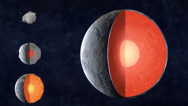 Formación de un planeta rocoso