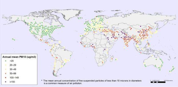 Mapa PM 10