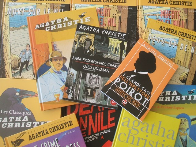 Diversas traduccciones de obras de Agatha Christie. / Jour~commonswiki