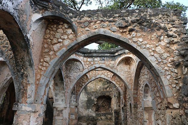 Restos de las mezquita de Kilwa Kisiwani