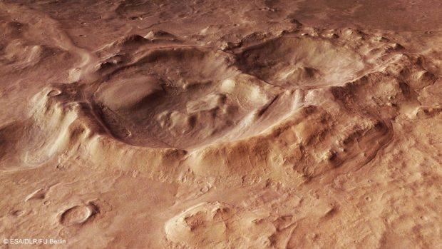 Cráteres en Hellas Planitia. / ESA/DLR/FU Berlín