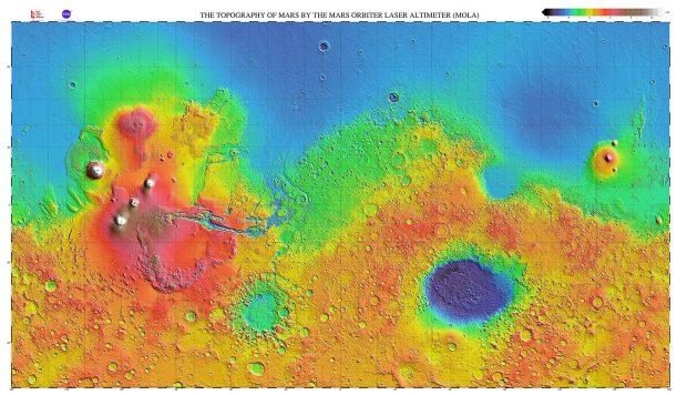 Mapas topográficos de relieve sombreado de muy alta resolución producidos por el equipo científico de MOLA. / NASA/MOLA
