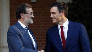Rajoy con Sánchez