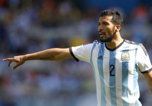 Garay con la Selección de Argentina