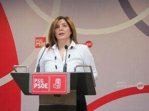 La presidenta de la gestora del PSdeG-PSOE, Pilar Cancela, afín a Pedro Sánchez