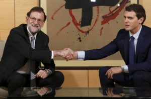 Mariano Rajoy con Albert Rivera