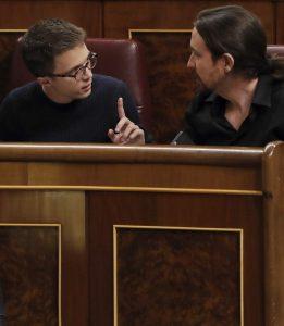Errejón e Iglesias en el Congreso de los Diputados