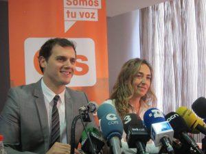 Albert Rivera con Carolina Punset