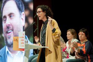 Marta Rovira en un acto electoral de ERC