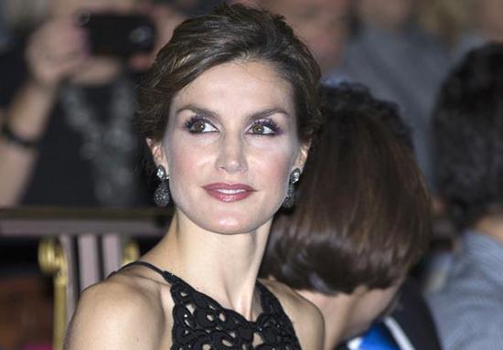 Con el mismo look acudió por la noche al Auditorio Palacio de Congresos Príncipe Felipe