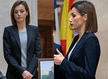 Doña Letizia, en la Residencia de Francia el pasado sábado