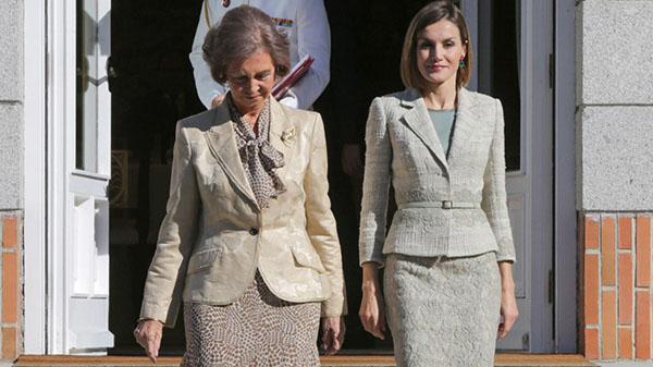 Reina y Reina, muy elegantes, parecieron ponerse de acuerdo