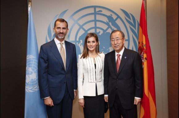 En intervención del Rey Felipe IV en la Asamblea General de la ONU en septiembre de 2014
