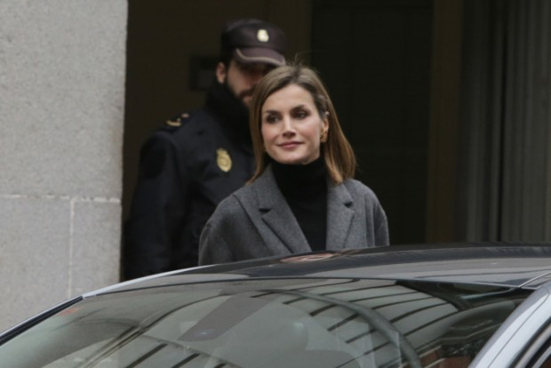 Queen Letizia of Spain attends a meeting at the Spanish Society Against Cancer ( AECC ) in Madrid 22/01/2016