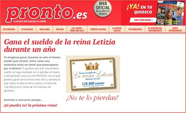El ropero de letizia for Revista pronto primicias ya