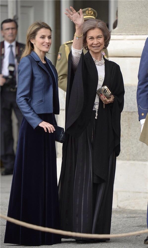 Más de lo mismo en 2014 con la Reina Sofía, solo el peli de leti un poco más largo marca la diferencia con 2012