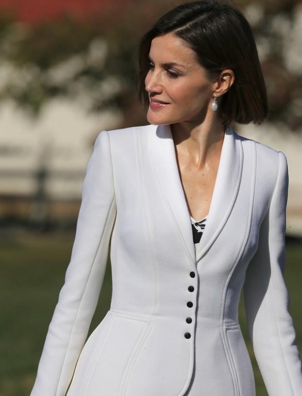 La Reina con chaqueta De Varela en Washington, el pasado septiembre