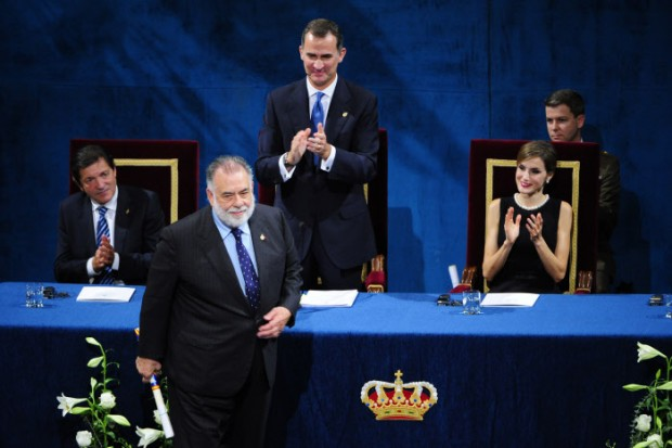 Spanish King Felipe VI and Queen Letizia and Director Francis Ford Coppola during the delivery of the Princess of Asturias Awards 2015 in Oviedo, on Friday 23rd October 2015.