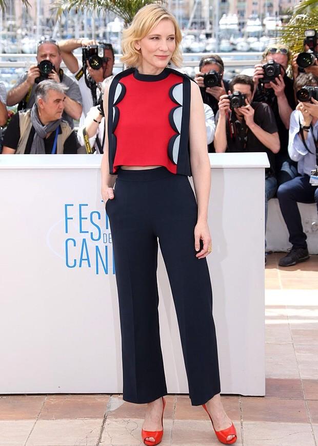 El estilo femenino y romántico del diseñador se adpata al gusto de la siempre sofísticada Cate Blanchet