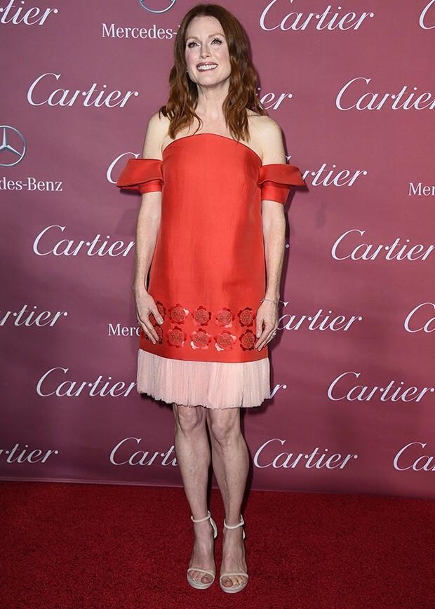 La fantástica Julianne Moore, de promoción de Still Alice por la que gano el Óscar a mejor actriz en 2015