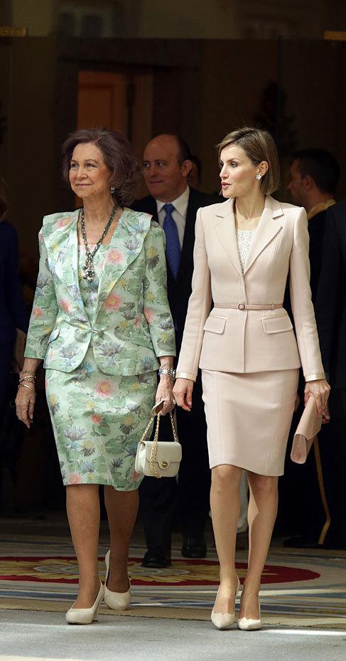 En abril de 2015 con la Reina Sofía