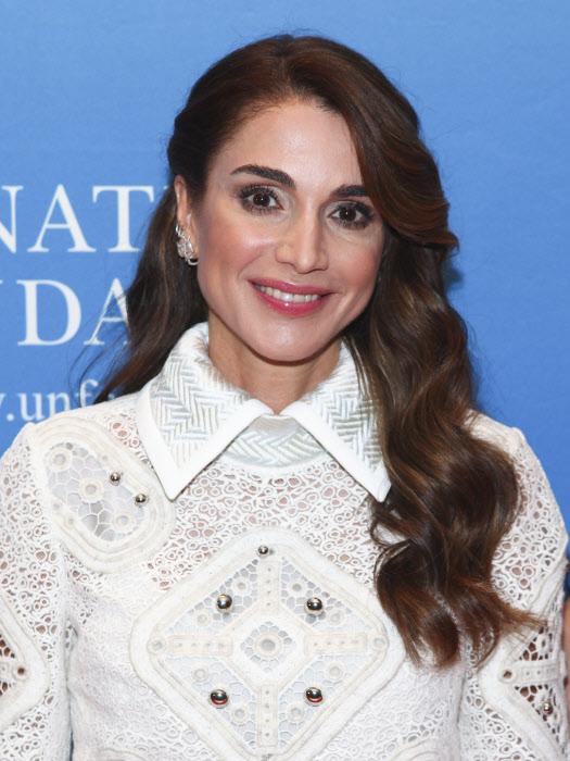 Rania en Nueva York en septiembre ,sonrisa y resplandor fácial