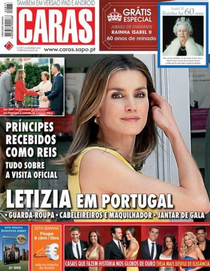 Letizia portada de una famosa revista Portuguesa en 2012