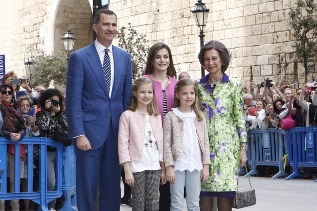 Es el segundo año que Felipe YLetizia celebran la Pascua como Monarcas y, también el segundo que el Rey Don Juan Carlos no asiste a la Misa