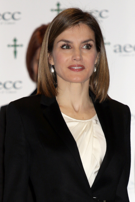 "Spanish Queen Letizia attending ""Forum against cancer"" in Madrid on Tuesday 3, February 2015"