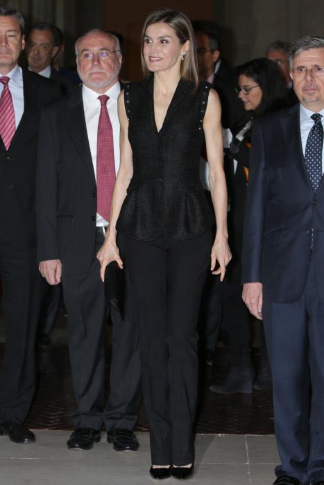 "Queen Letizia of Spain during the awards ceremony of SM of Children's Literature ""El Barco de Vapor"" and ""Gran Angular"" in Madrid.19/04/2016"