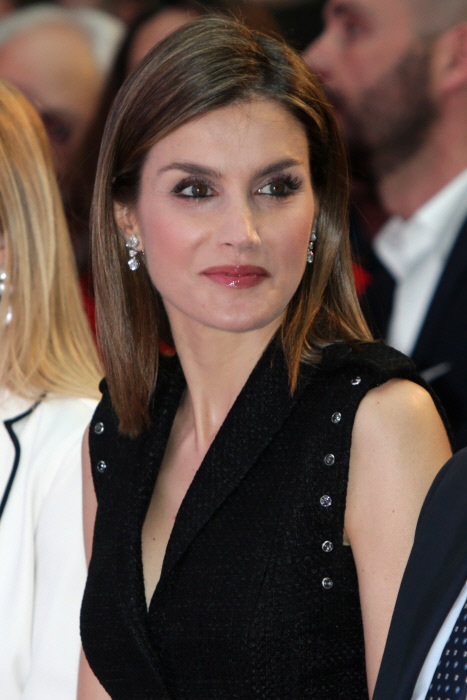 "Queen Letizia of Spain during the awards ceremony of SM of Children's Literature ""El Barco de Vapor"" and ""Gran Angular"" in Madrid.19/04/2016"