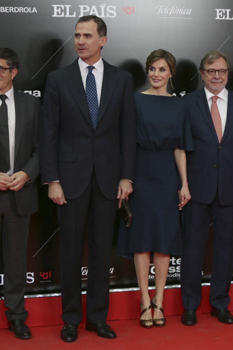 """Los reyes Felipe VI y Letizia Ortiz durante los premios Ortega y Gasset de periodismo 2016 en el 40 aniversario de la publicación """" El País """" en Madrid 05/05/2016"""