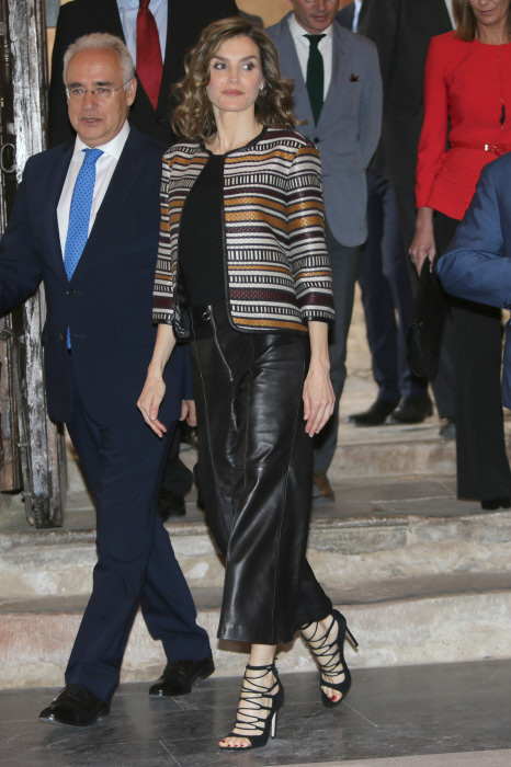 Queen Letizia of Spain at the inauguration of the XI International Seminar on language and journalism in La Rioja. 25/05/2016