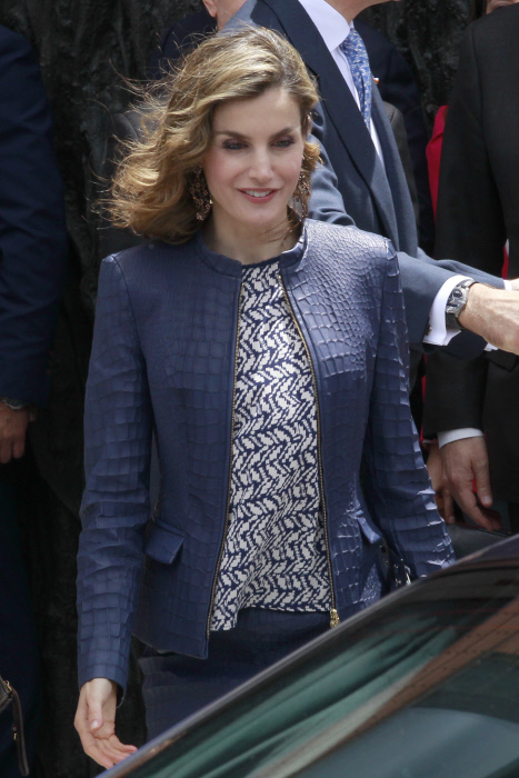Queen Letizia attending the opening of the exhibition '' Bosco '' in the PradoMuseum in Madrid, on Monday 30th May, 2016.