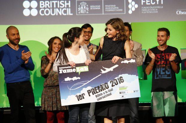 El premio: el pase a la final europea de Monólogos científicos se lo llevo Alba