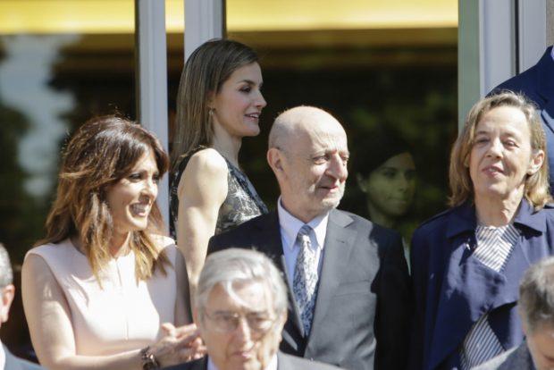 Letizia coincidió también con la fue sus sutituta presentando el informativo de TVE  Helena Rasano