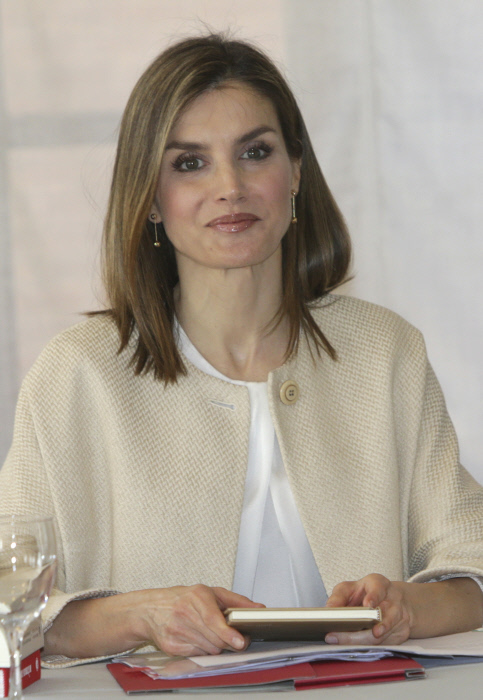 Queen Letizia during the meeting of the Board of the Student Residence in Madrid on Thursday, June 9, 2016