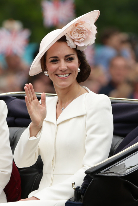 """The Duchess of Cambridge attending """" Trooping the Colour """" in London Where: London, United Kingdom When: 11 Jun 2016"""