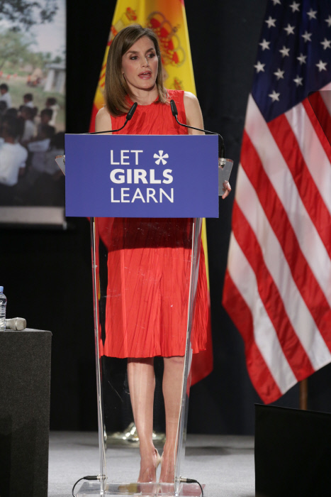 "Queen Letizia during "" Let Girls Learn "" in Madrid, on Thursday 30 June, 2016."