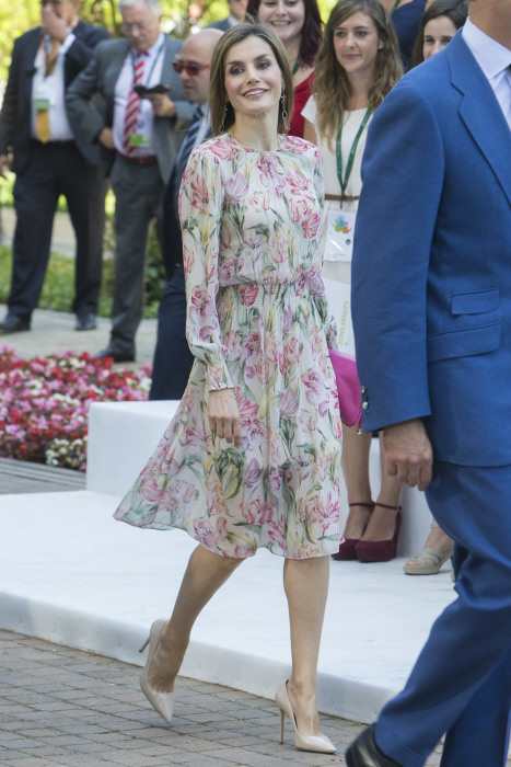 Queen of Spain, Letizia Ortiz during the delivery of scholarships for Masters and research grants from the Iberdrola Foundation in Madrid on Tuesday, July 5, 2106