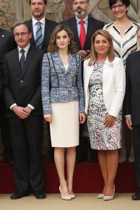 La Reina de España Letizia Ortiz y el Ministro de Sanidad Alfonso Alonso durante los Premios Reina Letizia del real Patronato sobre Discapacidad 08/07/2016 Madrid