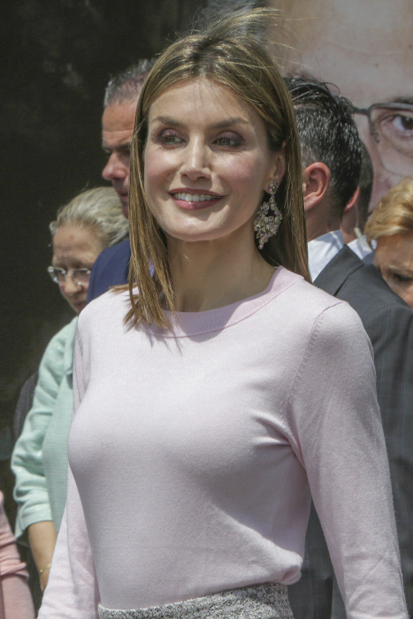 Queen Letizia of Spain during the inauguration of the 75th edition of the Madrid Book Fair, on Friday May 27, 2016