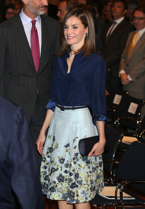 Kings of Spain Felipe VI and Letizia  during the commemoration of the centenary of the birth of Don Camilo Jose Cela in Madrid on Wednesday 17 September 2016.