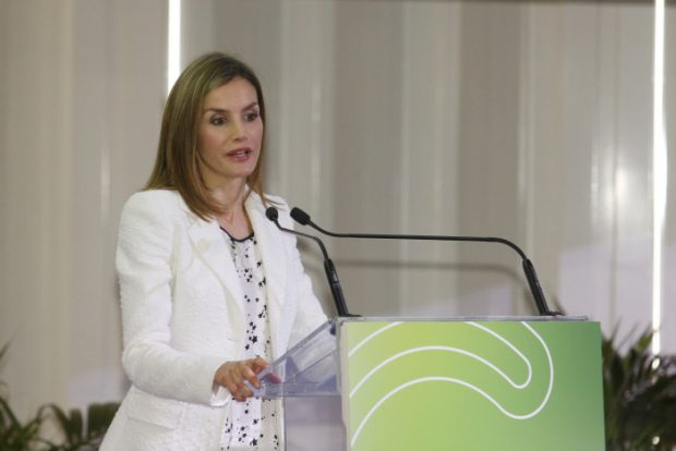 Spanish Queen Letizia during a conference at the World Day of Cancer Research in Barcelona. 22/09/2016