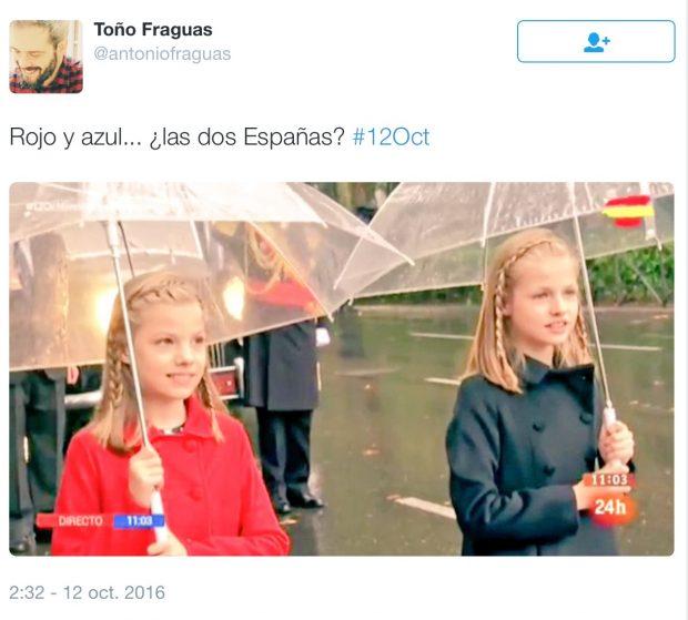 Bromas en Tweeter con los abrigos de las niñas y la izquierda y la derecha política de nuestro país