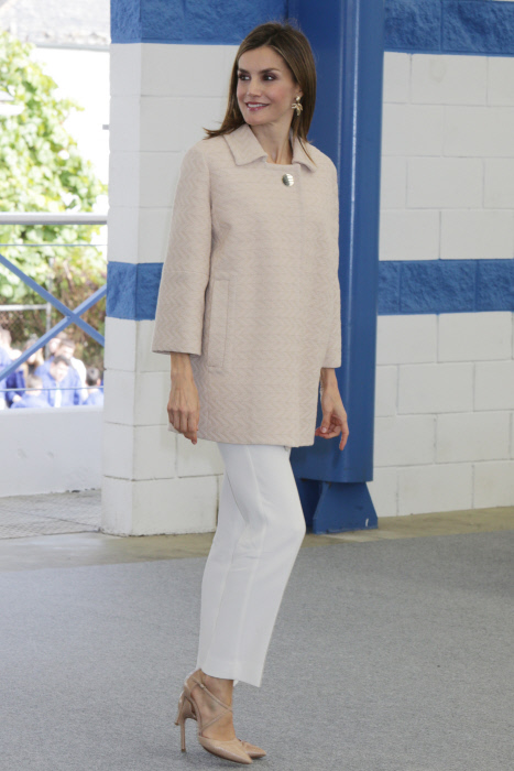 Queen Letizia of Spain during the opening of professional training courses 2016 in Mondoñedo Lugo on tuesday, October 04 2016
