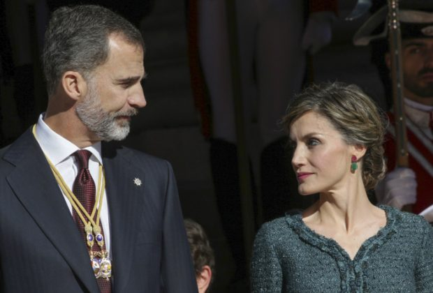 King Felipe VI and Queen Letizia of Spain during the opening ceremony of the XII Legislature in the Congress of Deputies in Madrid, Spain, Thursday, Nov. 17, 2016. en la foto : mirandose a los ojos