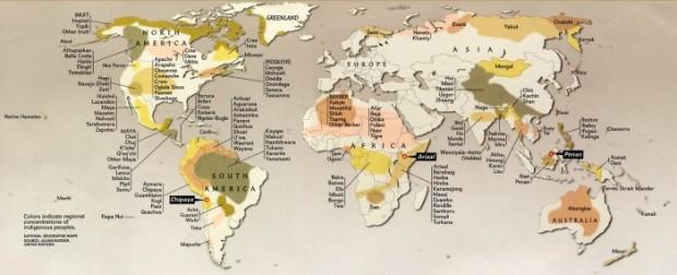 Map indigenous people. UN