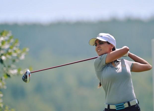 Victoria Alimonda Lovelady en un campo de golf - Fuente: Facebook.