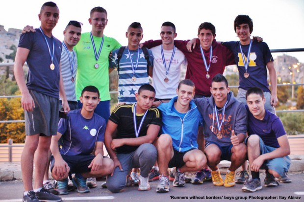 Equipo masculino de Runners without borders / Itay Akirav